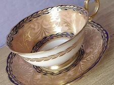 Antique 1910's Star Paragon Peach gold tea cup, bone china teacup