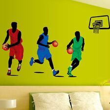 Play Basketball Wall Sticker BOY Vinyl Decor Kids Room Sports Home Decal Art