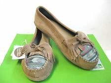 Sanuk Lafayette Suede Natural Women Shoes US8.5