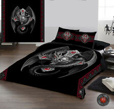 GOTHIC DRAGON - Duvet Cover Set for UK KING / US QUEENSIZE BED by Anne Stokes