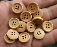 20pcs burlywood color 4Holes Wood Buttons Sewing 15mm