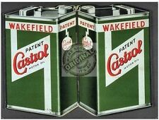 Castrol Motor Oil Can Vintage Wakefield Car Engine Classic Medium Metal/Tin Sign