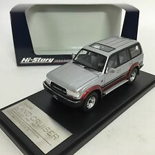 1/43 Hi-Story Toyota Land Cruiser 80 VX-LTD 1989 Silver / Red mica HS124AT