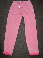 BNWT £35 River Island Trousers UK 10 Pink Jean Style Acid Wash Thin Dress Up