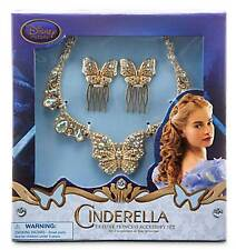 Disney Store Princess Cinderella Live Action Wedding Accessory Necklace Hair Pin