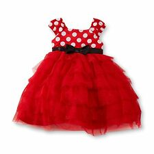 NWT Disney 2 Pc Minnie Mouse Special Occasion Ruffle Tutu Dress & Bloomers 12 M