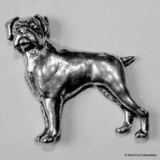Boxer Dog Pewter Pin Brooch - British Hand Crafted - Deutscher Bulldog