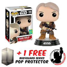FUNKO POP VINYL STAR WARS HAN SOLO SDCC 2016 EXCLUSIVE + FREE POP PROTECTOR