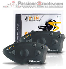Midland Btx1 par intercomunicador bluetooth 2 cascos piloto pasajero intercom