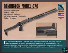 REMINGTON MODEL 870 SHOTGUN 12 Gauge Gun Atlas Classic Firearms PHOTO CARD