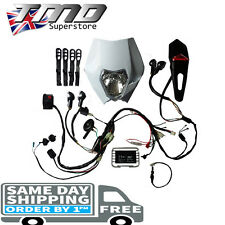 Enduro Motorcycle Complete Full Light Kit Indicators Loom - Kick Start ONLY