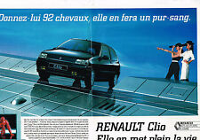 PUBLICITE ADVERTISING 035  1990  RENAULT CLIO  RT 1.7L  ( 2pages)