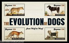 Dogs Evolution from Grey Wolf, Domestic Animals, Guyana 2012 MNH 4v SS  - Rc07