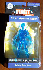 DC DIRECT FIRST APPEARANCE. BLUE BEETLE STEALTH COLLECTOR ACTION FIGURE. NOC