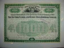 New York Central & Hudson River Railroad Bond Stock Certificate Chauncey Depew