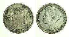 pcc1249_2) SPAGNA 1 PESETAS 1901  SM-V ALFONSO XIII