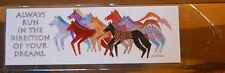 Leanin Tree BookMark Lots of HORSES Bright Colorful Laurel Burch Made in USA
