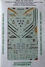 Xtradecal 1/72 X72019 RAF Update 1990 (Tornado/Hawk/Chinook) Decal set pt 2