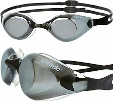 SPEEDO AQUAPULSE MIRROR BLACK SWIMMING GOGGLES BRAND NEW ANTI FOG