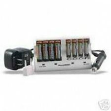8 Pack AA NiMH Batteries 2900mAh with Wall and Car Charger 110-220v