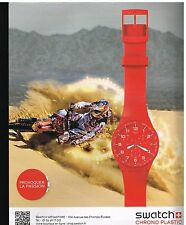 Publicité Advertising 2012 La Montre Swatch Chrono Plastic