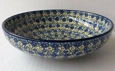 "NEW C.A. POLISH POTTERY 9"" SERVING BOWL- Daisy Lace"