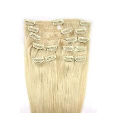 Neu Haarverlängerung Remy Echte Haare Clip in 9 Tressen 9 Teilig echthaare Haar
