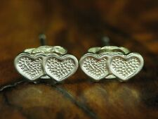 925 Sterling Argento Orecchini a bottone/Cuore Forma/in puro argento/orecchini/0,4g