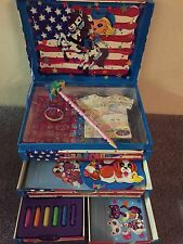 Vintage Lisa Frank Stationary Jewelry Box Purple Glittery Stars & Moon