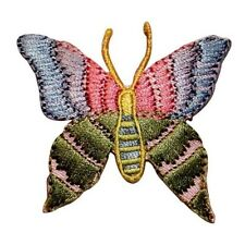 ID 2012 Butterfly Insect Embroidered Iron On Badge Applique Patch