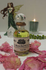 The Blackest Rose Fae Oil to Attract Fairies for Magic and Protection