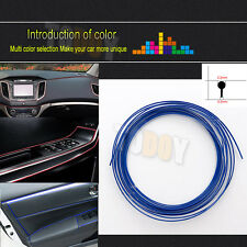 Hot!!! 33Ft 10M Blue Chrome Car DIY Interior Moulding Trim Decorative Strip Line
