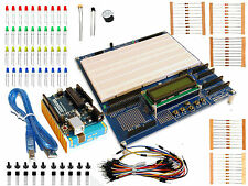 STARTER KIT ARDUINO PROTOSHIELD PLUS con GENUINO UNO ORIGINALE