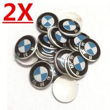 2X NEW Remote Key Badge Emblem Sticker Logo for BMW All Series Key Fob Aluminum