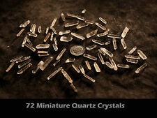Sale: 60  MINIATURE SIZED SPARKLING QUARTZ CRYSTALS BY THE POINT