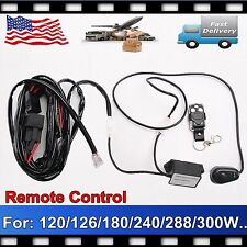 Remote Control Wiring Harness Kit 40A 14VDC For 120/240/300W LED Work Light Bar