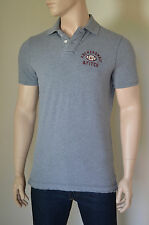 NEW Abercrombie & Fitch Round Mountain Polo Shirt Football NY Grey XL RRP £72