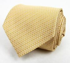 New Gucci Yellow Woven Silk Neck Tie with Wavy Pattern 344170 7177