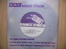 "BBC Sound Effects 7"" Stereo Record - Trains Passing, Steam Locomotive, Electric"