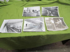 5 NYFD 8 X 10 PHOTOGRAPHS OF HOLLAND TUNNEL FIRE DRILL 1961