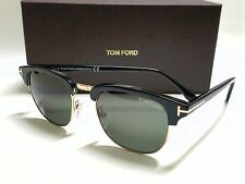 Authentic TOM FORD HENRY FT0248 05N Black Gold/Green Lens 51mm SUNGLASSES