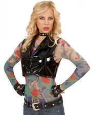 Angel Wings Tattoo Shirt Punk Rocker Rock Chic Biker Ladies Fancy Dress Costume
