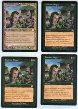 ENDEMIC PLAGUE X4 - 1 is FOIL MAGIC Mtg - ONSLAUGHT - LIGHTLY PLAYED (LP)