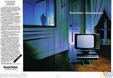 Publicité advertising 1982 (2 pages) TV Hi Fi Video Bang & Olufsen