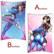 Hot Game D.Va Overwatch 2WT Cushion Bedding Pillow Case Cover Dakimakura 35*55CM