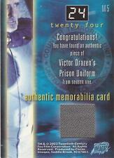 "24 / Twenty Four Season 1 - M5 ""Victor Drazen's Prison Uniform"" Costume Card"