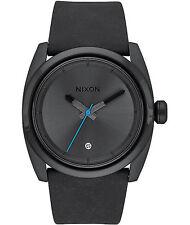 NWT Nixon Kingpin Leather Black Mens aa200