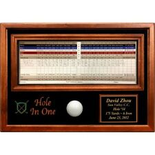 Golf Hole in One Commemorative Customized Display - Incredible Quality!