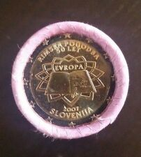 "Slovenia 2 euro coin 2007 ""Treaty of Rome"" OFFICIAL ROLL of 25 coins RARE"