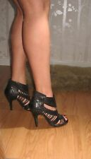 Chinese Laundry Labyrinth leather black high heel shoes size 5 -5.5 eu 38 -38.5